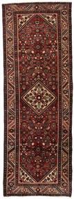 Hamadan Rug 98X270 Authentic  Oriental Handknotted Hallway Runner  Dark Red/Light Brown (Wool, Persia/Iran)
