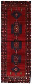 Hamadan Tapis 110X295 D'orient Fait Main Tapis Couloir Rouge Foncé/Rouge (Laine, Perse/Iran)