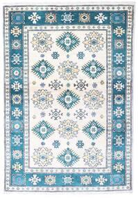 Kazak Tapis 97X139 D'orient Fait Main Beige/Bleu (Laine, Pakistan)