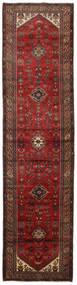ハマダン 絨毯 98X391 オリエンタル 手織り 廊下 カーペット 深紅色の (ウール, ペルシャ/イラン)