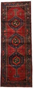 Hamadan Matto 106X304 Itämainen Käsinsolmittu Käytävämatto Tummanpunainen/Tummanruskea (Villa, Persia/Iran)
