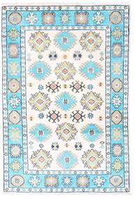 カザック 絨毯 83X123 オリエンタル 手織り ホワイト/クリーム色/ベージュ (ウール, パキスタン)
