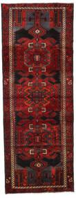 Hamadan Rug 105X282 Authentic  Oriental Handknotted Hallway Runner  Dark Red/Dark Brown (Wool, Persia/Iran)