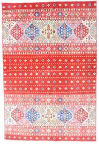 Kazak Rug 121X180 Authentic  Oriental Handknotted Light Pink/Crimson Red (Wool, Pakistan)
