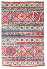 Kazak Rug 96X147 Authentic  Oriental Handknotted Purple/Light Grey (Wool, Pakistan)