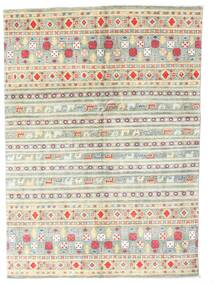 Kazak Rug 142X199 Authentic  Oriental Handknotted Beige/Light Grey (Wool, Pakistan)