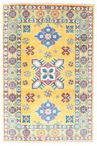 Kazak Vloerkleed 81X122 Echt Oosters Handgeknoopt Lichtgrijs/Geel (Wol, Pakistan)