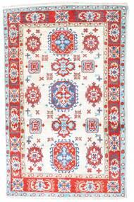 Kazak Dywan 81X126 Orientalny Tkany Ręcznie Beżowy/Jasnoróżowy (Wełna, Pakistan)