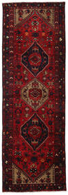 Hamadan Teppe 101X300 Ekte Orientalsk Håndknyttet Teppeløpere Mørk Rød/Mørk Brun (Ull, Persia/Iran)