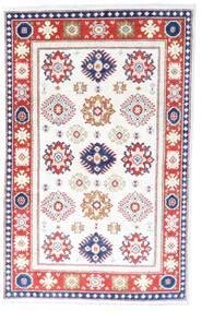 Kazak Matto 96X149 Itämainen Käsinsolmittu Valkoinen/Creme/Beige (Villa, Pakistan)