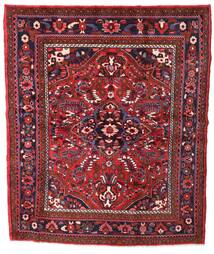 Hosseinabad Rug 183X216 Authentic  Oriental Handknotted Square Dark Red/Crimson Red (Wool, Persia/Iran)