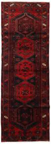 Hamadan Matta 102X300 Äkta Orientalisk Handknuten Hallmatta Mörkröd (Ull, Persien/Iran)