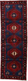 Hamadan Matto 100X293 Itämainen Käsinsolmittu Käytävämatto Musta/Tummanpunainen (Villa, Persia/Iran)