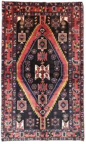Hamadan Rug 140X222 Authentic  Oriental Handknotted Dark Brown/Light Pink (Wool, Persia/Iran)