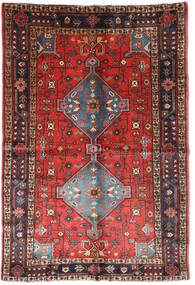 Nahavand Rug 152X223 Authentic  Oriental Handknotted Dark Red/Dark Brown (Wool, Persia/Iran)