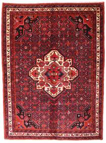 Hosseinabad Rug 153X208 Authentic  Oriental Handknotted Dark Red/Crimson Red (Wool, Persia/Iran)