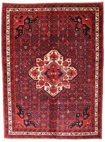 Hosseinabad Szőnyeg 153X208 Keleti Csomózású Sötétpiros/Piros (Gyapjú, Perzsia/Irán)