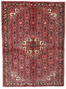 Hosseinabad Szőnyeg 149X200 Keleti Csomózású Sötétpiros/Barna (Gyapjú, Perzsia/Irán)