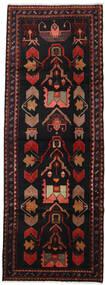 Hamadán Szőnyeg 103X292 Keleti Csomózású Fekete/Sötétpiros (Gyapjú, Perzsia/Irán)