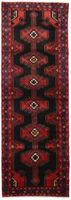 Hamadan Matta 103X298 Äkta Orientalisk Handknuten Hallmatta Mörkbrun/Mörkröd (Ull, Persien/Iran)