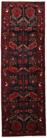 Hamadan Rug 103X310 Authentic  Oriental Handknotted Hallway Runner  Dark Red (Wool, Persia/Iran)