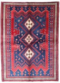Afshar Alfombra 162X220 Oriental Hecha A Mano Púrpura Oscuro/Óxido/Roja (Lana, Persia/Irán)