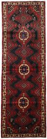 Hamadan Dywan 110X338 Orientalny Tkany Ręcznie Chodnik Ciemnoczerwony/Czarny (Wełna, Persja/Iran)
