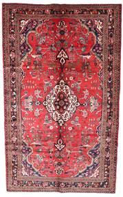 Hamadan Rug 163X270 Authentic  Oriental Handknotted Dark Red/Dark Brown (Wool, Persia/Iran)