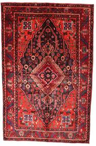 Hamadan Rug 162X253 Authentic  Oriental Handknotted Dark Red/Rust Red (Wool, Persia/Iran)