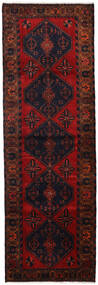 Hamadan Teppe 100X308 Ekte Orientalsk Håndknyttet Teppeløpere Mørk Rød/Rust (Ull, Persia/Iran)