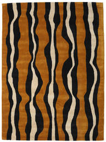 Tigre - Auriu/Bej Covor 160X230 Modern Negru/Maro (Lână, India)