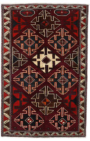 Lori Rug 138X215 Authentic  Oriental Handknotted Dark Red (Wool, Persia/Iran)
