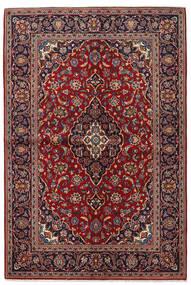 Keshan Alfombra 142X211 Oriental Hecha A Mano Rojo Oscuro/Negro (Lana, Persia/Irán)