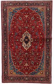 Sarough Matta 130X208 Äkta Orientalisk Handknuten Mörkröd (Ull, Persien/Iran)