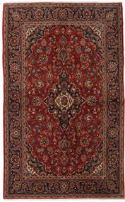 Keshan Rug 142X230 Authentic  Oriental Handknotted Dark Brown/Dark Red (Wool, Persia/Iran)