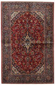Keshan Rug 135X209 Authentic  Oriental Handknotted Dark Red/Dark Brown (Wool, Persia/Iran)