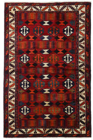 Lori Rug 145X224 Authentic  Oriental Handknotted Dark Brown/Dark Red (Wool, Persia/Iran)