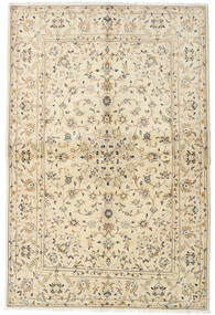 Keshan Alfombra 142X216 Oriental Hecha A Mano Beige/Beige Oscuro (Lana, Persia/Irán)