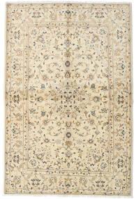 Keshan Rug 142X216 Authentic  Oriental Handknotted Beige/Dark Beige (Wool, Persia/Iran)