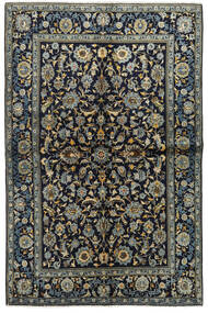 Keshan Rug 134X205 Authentic Oriental Handknotted Dark Blue/Dark Grey (Wool, Persia/Iran)