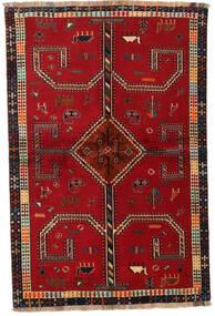 Ghashghai Tappeto 147X222 Orientale Fatto A Mano Rosso/Rosso Scuro (Lana, Persia/Iran)