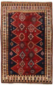Ghashghai Teppich  145X231 Echter Orientalischer Handgeknüpfter Dunkelrot/Schwartz (Wolle, Persien/Iran)