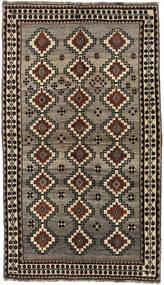Kaszkaj Dywan 133X233 Orientalny Tkany Ręcznie Ciemnobrązowy/Jasnoszary (Wełna, Persja/Iran)