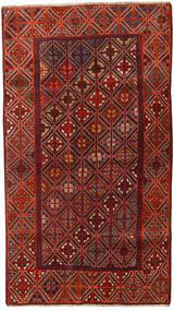 Qashqai Sag 127X226 Autentični Orijentalni Ručno Uzlan Tamnocrvena/Tamnosmeđa (Vuna, Perzija/Iran)