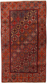 Qashqai Rug 127X226 Authentic  Oriental Handknotted Dark Red/Dark Brown (Wool, Persia/Iran)