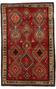 Qashqai Rug 130X198 Authentic  Oriental Handknotted Dark Red/Dark Brown (Wool, Persia/Iran)