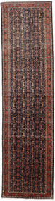 Hamadan Rug 104X403 Authentic Oriental Handknotted Hallway Runner Dark Red/Dark Grey (Wool, Persia/Iran)