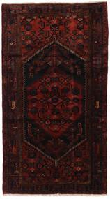 Hamadan Matta 140X250 Äkta Orientalisk Handknuten Mörkröd (Ull, Persien/Iran)