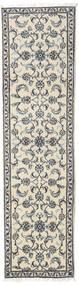 Nain Teppe 79X286 Ekte Orientalsk Håndknyttet Teppeløpere Beige/Lys Grå (Ull, Persia/Iran)