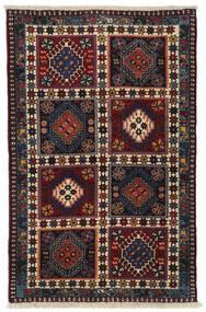 Yalameh Sag 78X122 Autentični  Orijentalni Ručno Uzlan Tamnocrvena/Tamnosiva (Vuna, Perzija/Iran)